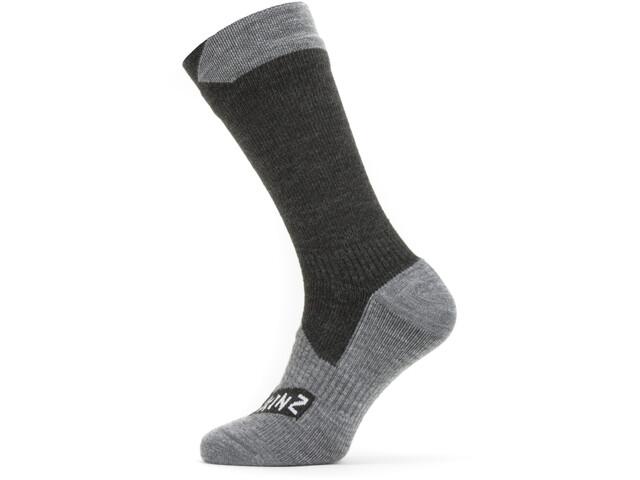 Sealskinz Waterproof All Weather Mid Socks Black/Grey Marl